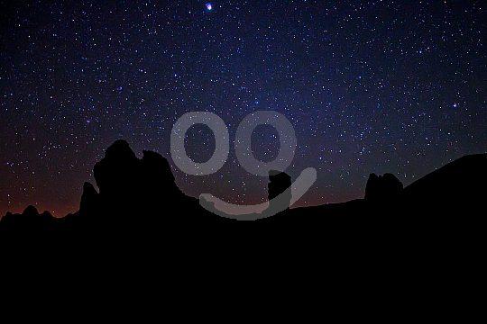 Sunset and Stars Teide Landschaft Teneriffa