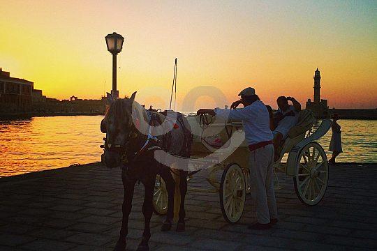 Sonnenuntergang in Chania