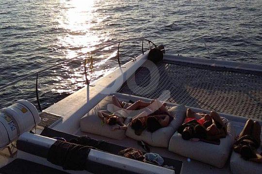Katamaran Ausflug mit Sonnenuntergang