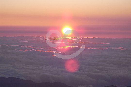Aussicht vom Teide bei Sonnenaufgang