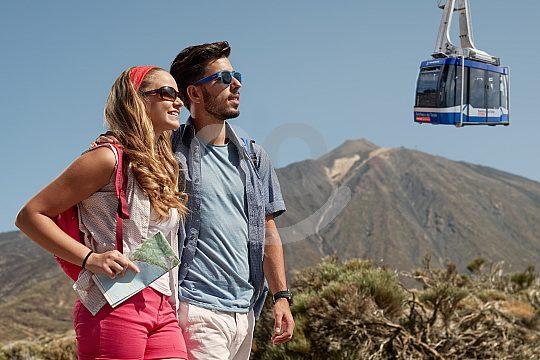 die Seilbahn zum Teide auf die Bergstation