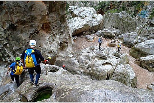 Abstieg im Torrent de Pareis auf Mallorca