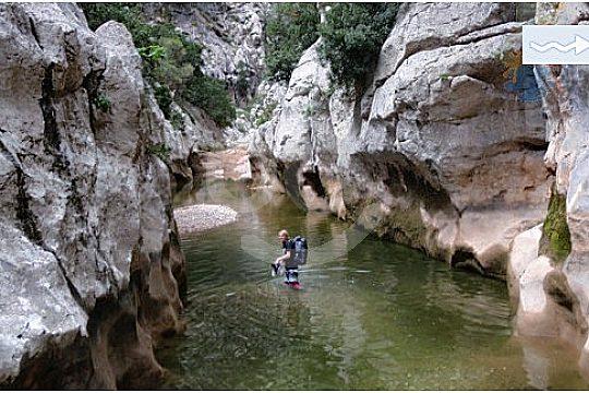 Flussbett des Torrent de Pareis beim Wandern