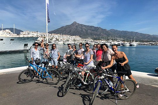 Malaga Tour mit dem Fahrrad und Guide