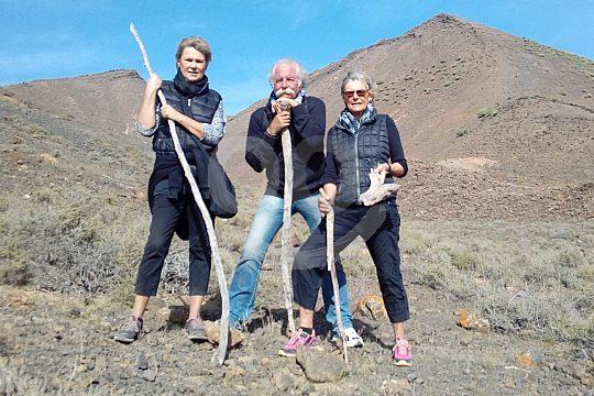 auf der Vulkan-Wanderung Fuerteventura