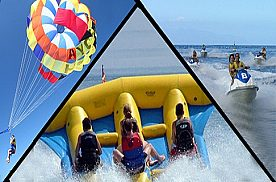 Drei Wassersportaktivitäten auf Teneriffa: Jetski, Parasailing, Banana Boot