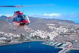 Rundflug Helicopter Boote Meer Teneriffa