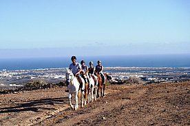 Reiten mit Panoramablick auf Gran Canaria
