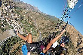 paragliding im tandem auf granada