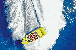 Bucht von Alcudia Speedboot Drehung