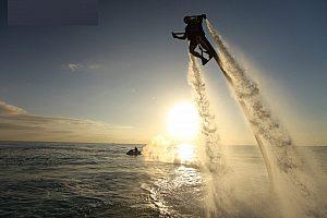 Flyboarden auf Ibiza