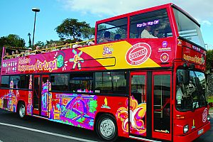 Stadtrundfahrt in Funchal: flexible Hop-on Hop-off City Sightseeing Bustour