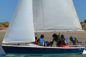 Segelschule Barrameda: Lernen Sie segeln beim Segelkurs im Doñana Naturpark