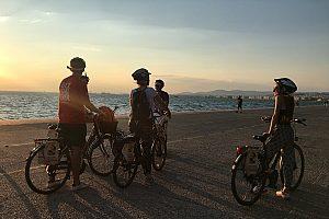 Fahrrad Tour Thessaloniki im Sonnenuntergang