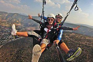 Paragliding ab Salou über das Mussara Gebirge nahe der Costa Dorada