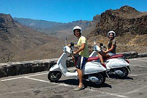 unterwegs mit der Vespa in Gran Canaria