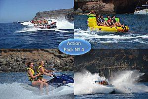 Wassersport-Paket Nº 4: Jet Boat + Crazy Ufo + Jetski in Gran Canaria Südwesten