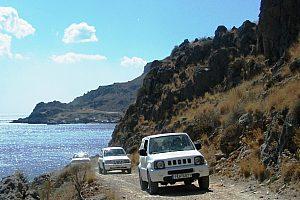 Jeep Safari auf Kreta Küste