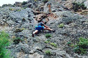 Klettern im Pezas Gebirge