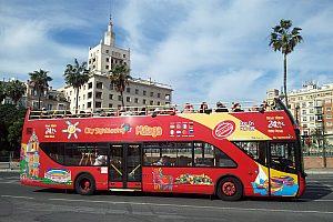 Günstige 24-Stunden-Tickets für den Málaga Hop on Hop off City Sightseeing Bus
