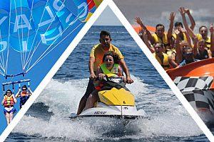Wassersport Parasailing Jet Ski Jet Boot auf Lanzarote