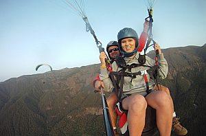 Über dem Ifonche auf Teneriffa Paragliding Tandem