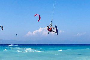 Kitesurfen auf Rhodos