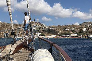 Rhenia und Delos Segeln Mykonos