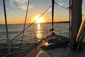 Segeltour Lissabon Sonnenuntergang