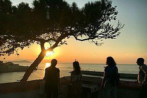 Sonnenuntergang vom geheimen Platz aus