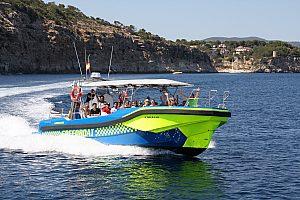 Mit dem Speedboot und Skipper auf Mallorca