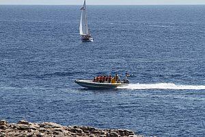 Kleines speedboot Mallorca