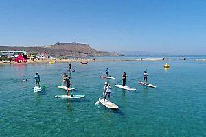 SUP Tour auf dem Weg ins Meer