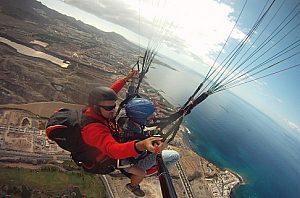 Tandem Paragliding auf Teneriffa Taucho im Süden der Insel
