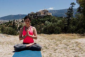 Fahrradtour in Athen mit Yoga