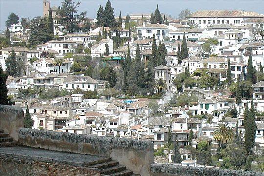 barrio Albaicín en Granada