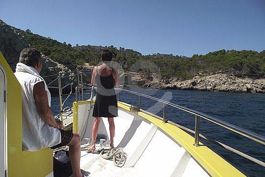 excursión en barco de visión submarina Andratx