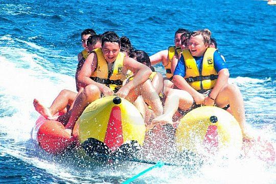 Ritt auf dem Bananaboot in Mallorca