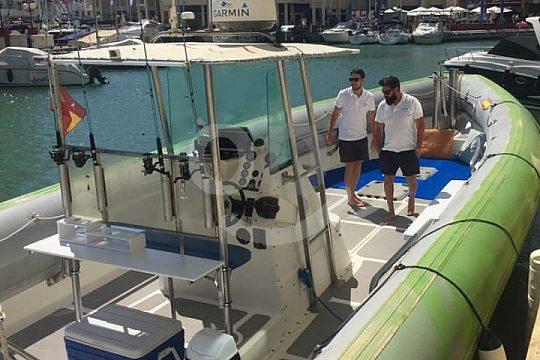 En barco desde Costa del Sol
