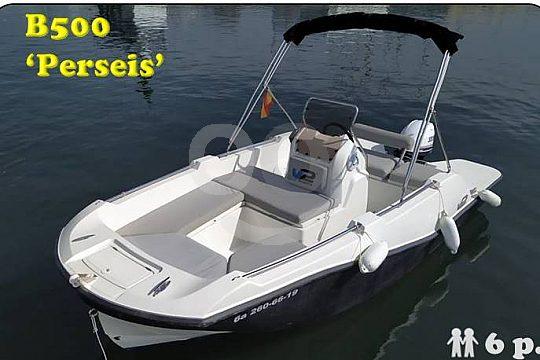 Führerscheinfreies Motorboot Perseis mieten