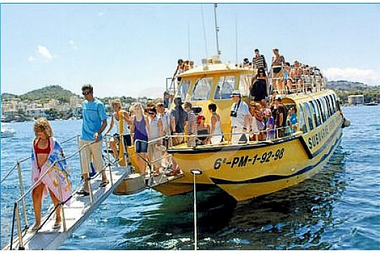 Andratx tour en barco con fondo cristal