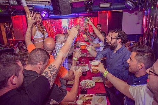 cena y cabaret fiesta Málaga animación