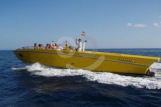excursión en barco en Ibiza con lancha rápida