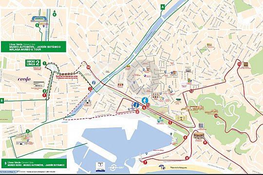 Haltestellen Màlaga City Sightseeing Bus