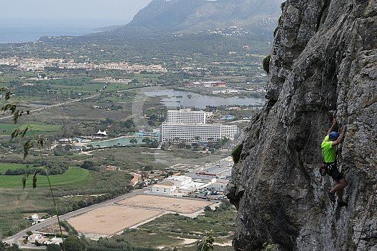 desafío durante la escalada