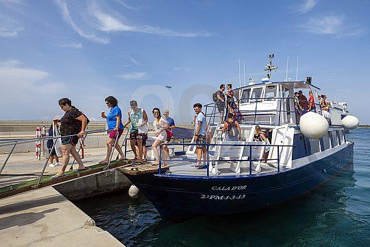 Bootstour zum Strand von Formentera