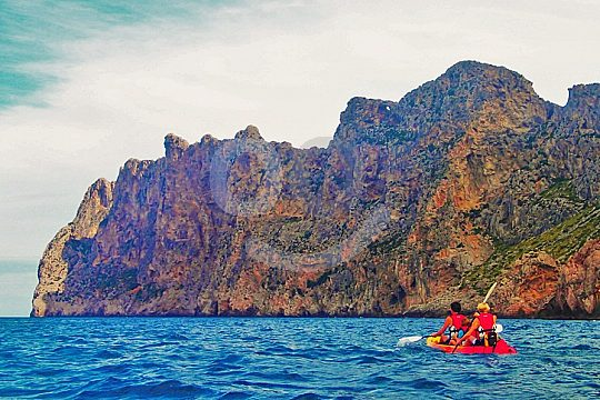 en tour en kayak cerca de Pollensa
