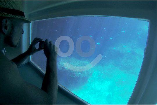 barco con fondo cristal en Mallorca
