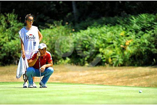 golfer sebastian garcia beim training