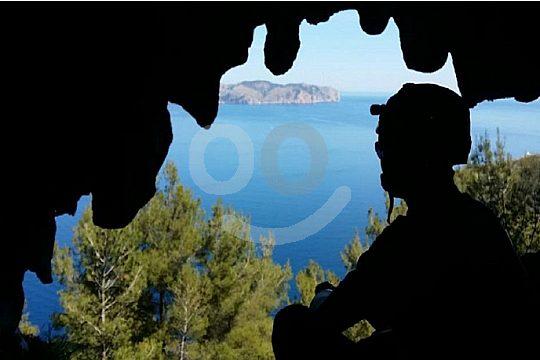 vista durante el tour de espeleología en Mallorca
